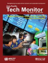 The Asia Pacific Tech Monitor brings you up-to-date information on trends in technology transfer and development, technology policies, and new products and processes. The Yellow Pages feature Business Coach for innovative firms, as well as technology offers and requests.